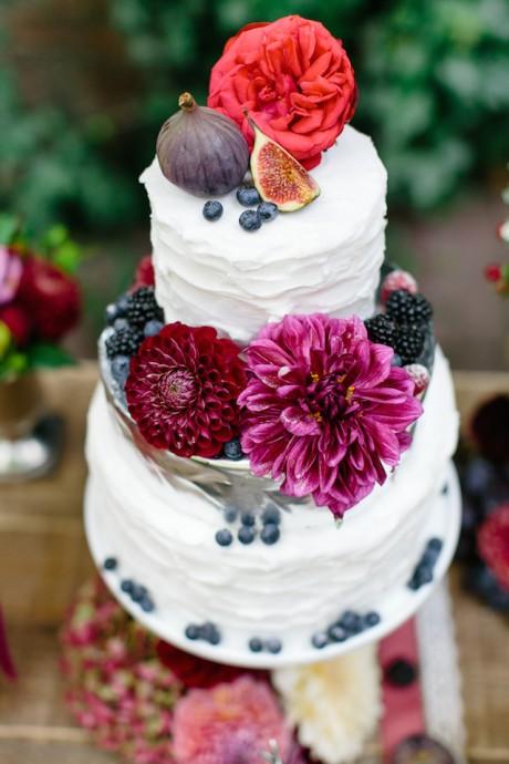 wedding cake mariage prune