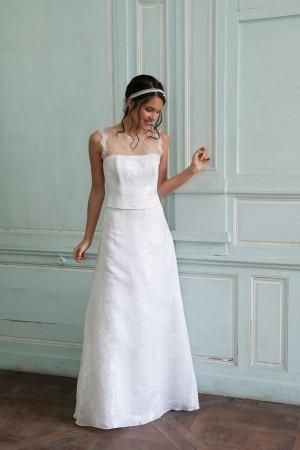 Robe de mari e vif argent par elsa gary collection 2015 for Robes de mariage en argent