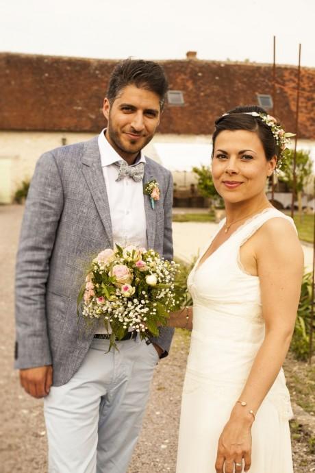 angelique et michael mariage champetre