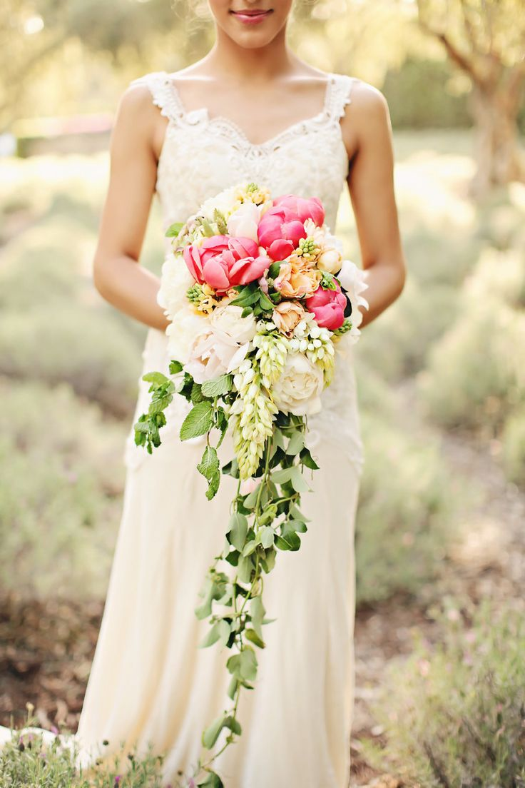 bouquet en cascade