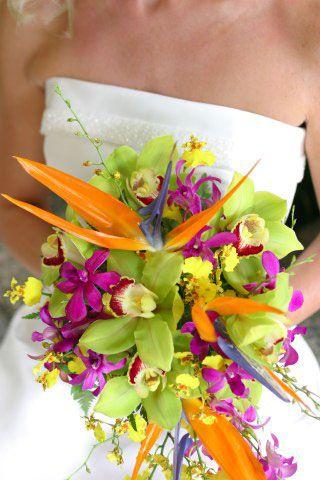 bouquet vert fluo