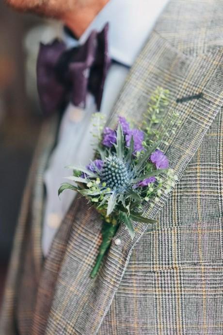 boutonniere mariage ecossais
