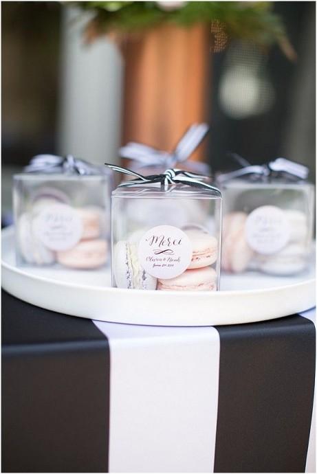 cadeau convives mariage parisien macarons