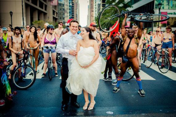 cyclistes et maries