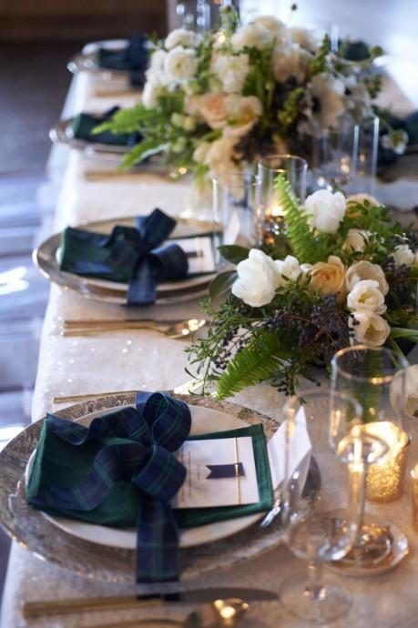 decoration de table mariage ecossais