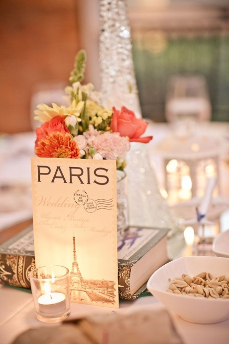 decoration de table mariage parisiens