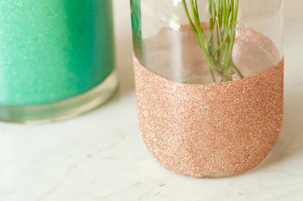 diy vase pailletes 6