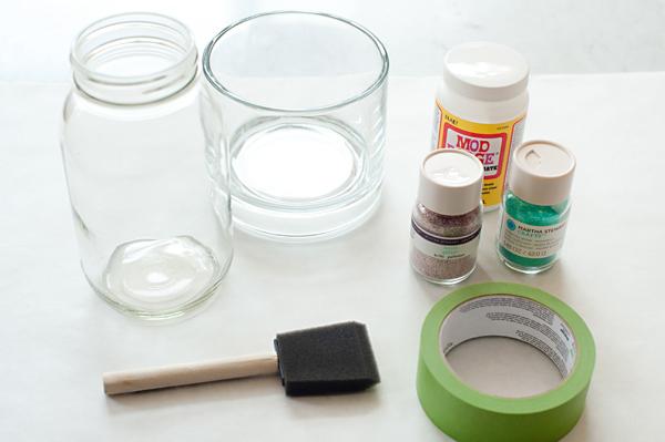 diy vase pailletes materiel
