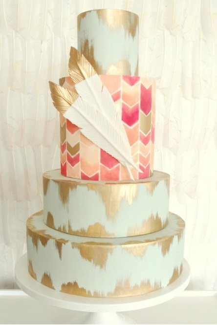 bohemian wedding cake designs 10 painted wedding cakes transform 233 s en oeuvre d 12072