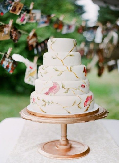 le notre wedding cakes 10 painted wedding cakes transform 233 s en oeuvre d 16814
