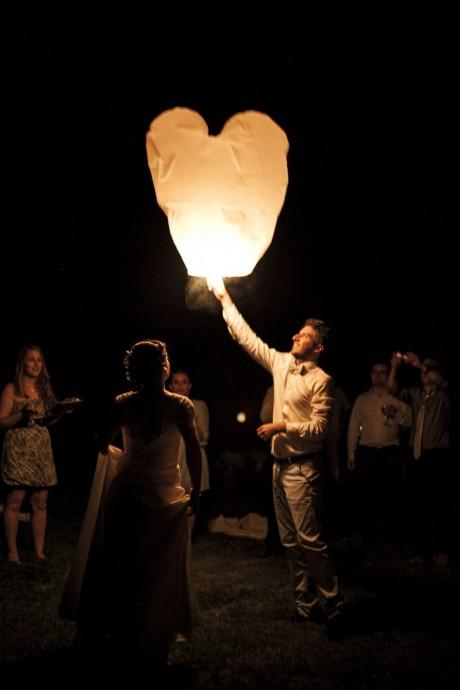 laché de lanterne mariage angelique et michael