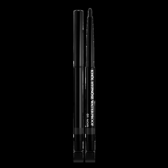 Un crayon khôl à appliquer le long de la frange des cils pour un regard qui gagne en intensité. Pour un regard smocky on estompe le trait à l'aide d'un pinceau fin. Et on oublie pas le ras des cils inférieurs. Il résiste à l'eau et aux frottements, bien sûr. Eyeliner Khôl Hypnôse Waterproof, lancôme, 18.10 euros.