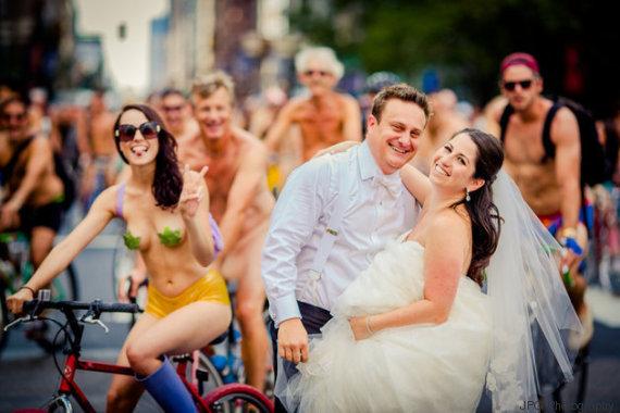 mariage et cyclistes
