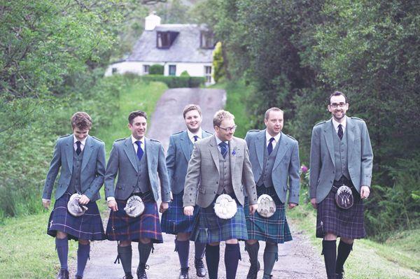 marie et temoins kilt mariage ecossais