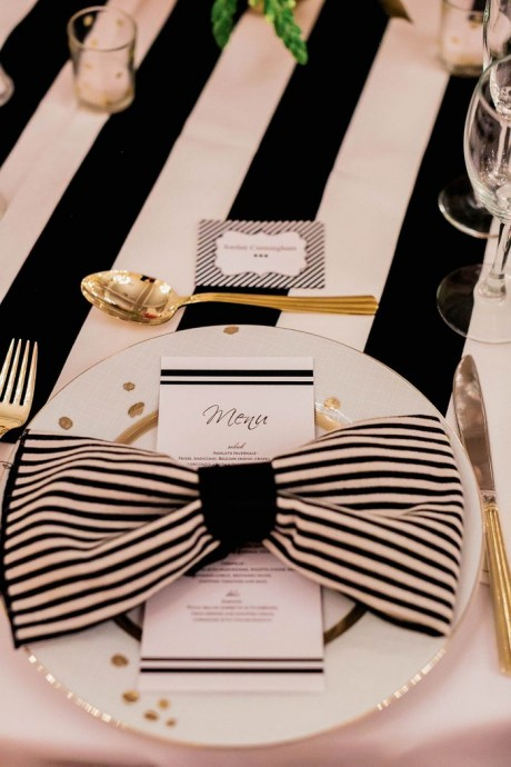 menu mariage parisien table