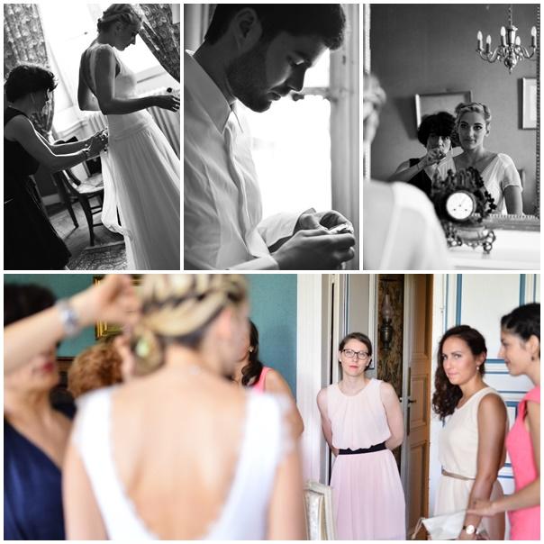 montage tenue de maries