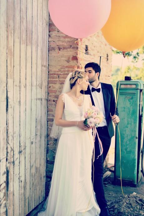 photo de mariage aurelie et fred romantique chic
