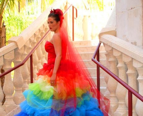 robe de mariee arc en ciel