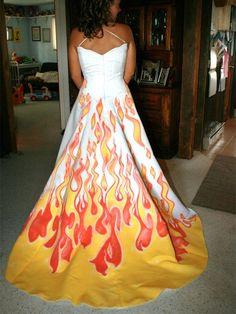 robe enflammee