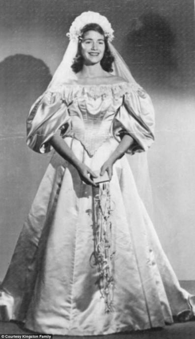 Virginia Woodruff, mariée en 1948
