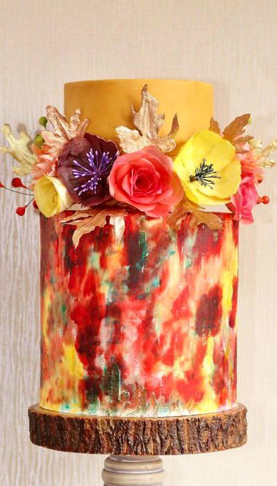 un wedding cake aux couleurs dautomne