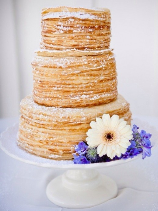 wedding cake crepes