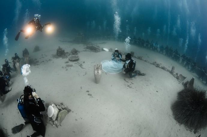 Cérémonie sous marine.