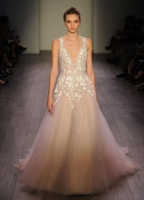 Hayley Paige Shows Lively, Feminine Wedding Dresses for Fall 2016
