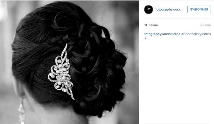 Glamour et discret, ce bijou de cheveux mettra en valeur la perfection de votre chignon sur le côté.