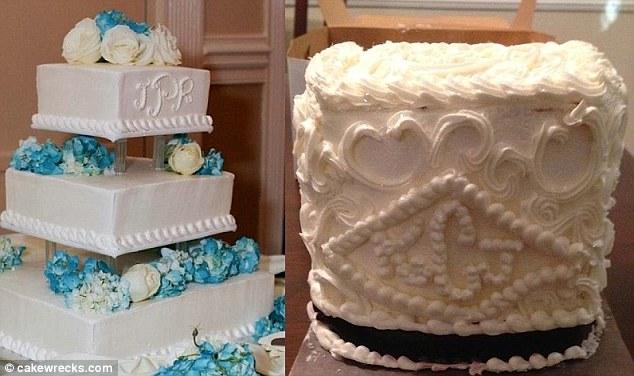 ... mariage mais le pâtissier a décidé de lui envoyer un cube plein de