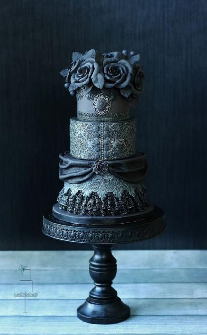 gâteau de mariage gâteau original gothique mariage