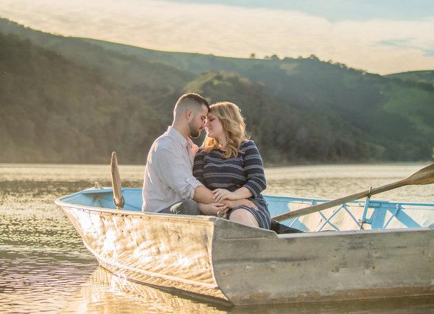 Michal Ott et Justin Lebon sont ensemble depuis quatre ans, et cela fait deux Noël que la jeune femme attendait que son chéri lui fasse sa demande... Justin s'est finalement lancé le jour de Noël 2014.