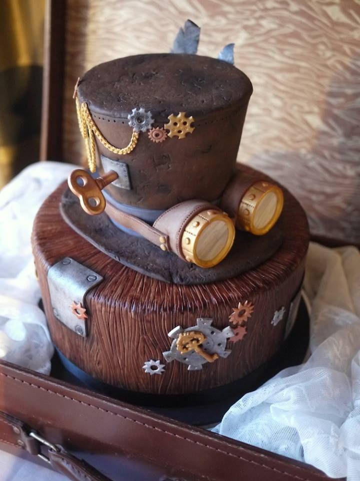 Le Steampunk est également né à l'époque de Jules Verne et de ses romans futuristes. Ce wedding cake Steampunk est donc en parfaite adéquation avec le thème !