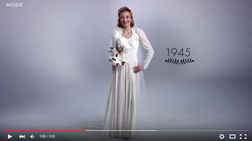 Un superbe siècle de robes de mariée en trois minutes ! - Mariage ...