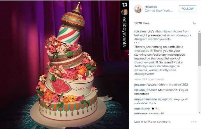 Venu tout droit de l'Inde ce gâteau de mariage sur le thème de Bollywood en fera pâlir plus d'un !