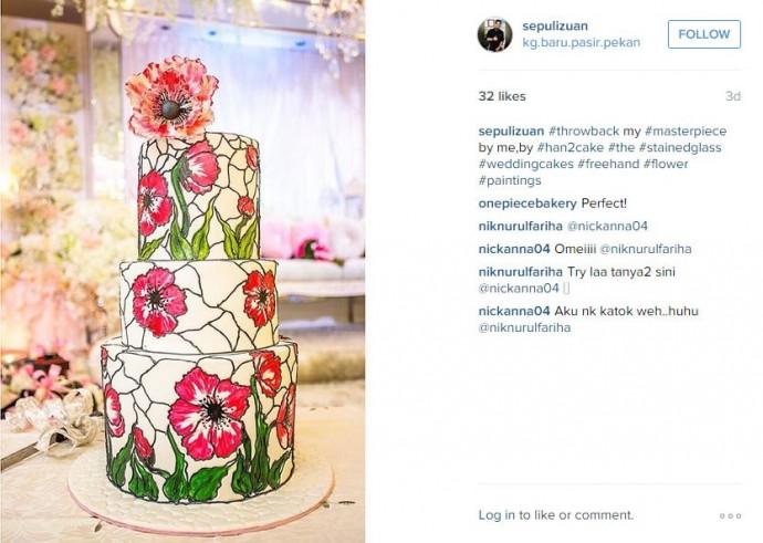 Vous avez une âme d'artiste et vous voulez le montrer à votre mariage ? Faîtes le savoir avec ce gâteau totalement décalé et superbe !