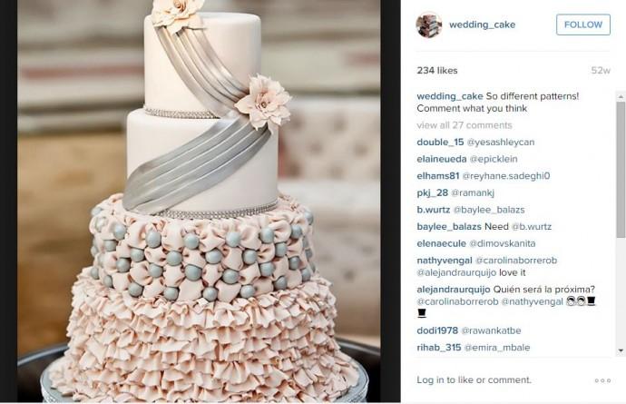 Un gâteau qui ressemblerait à votre robe pourquoi pas ? Ce wedding cake semblerait tout droit sorti d'une comédie romantique et nous fait littéralement baver d'envie !