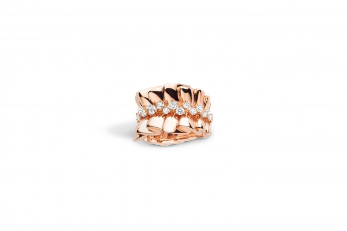 bague en or rose dior