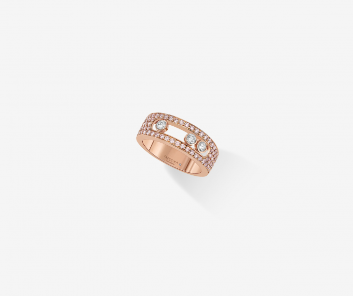 bague messika or rose