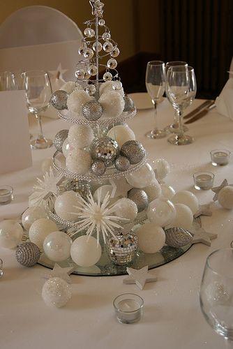 C'est une pièce montée ?! Non ! Un centre de table sublime composé de boules de votre sapin.