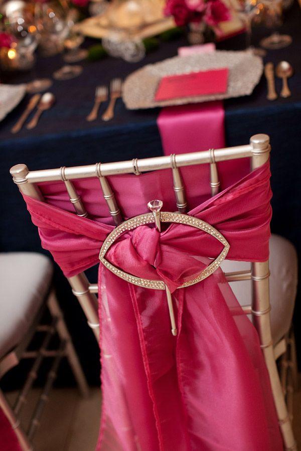 Un mariage sur le thème de la couleur rose.