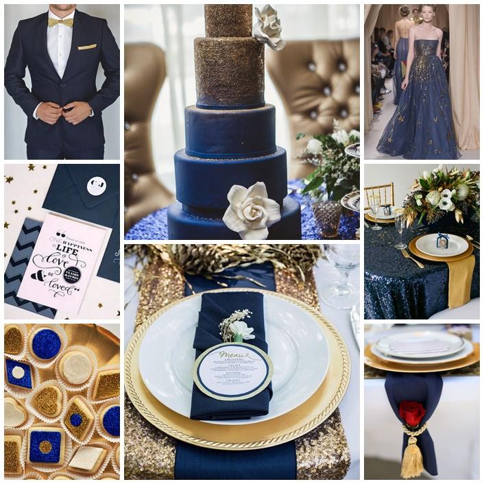 Mon mariage entre bleu et or, splendide - Mariage.com