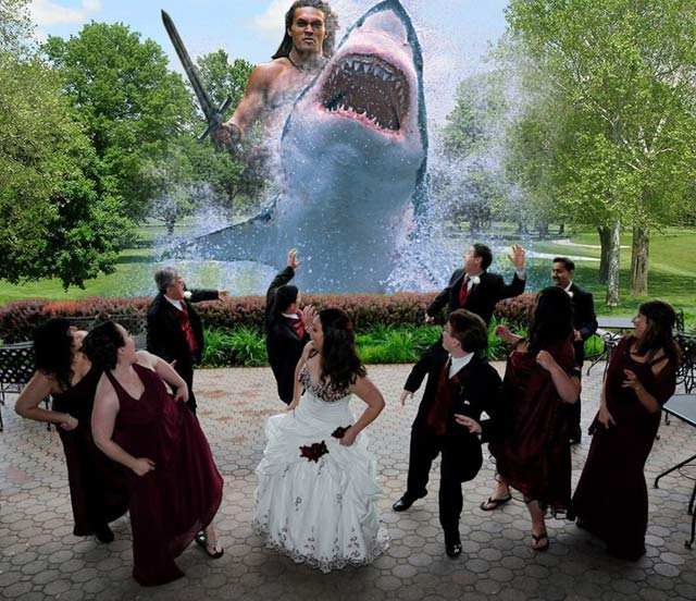 drole de mise en scene au mariage