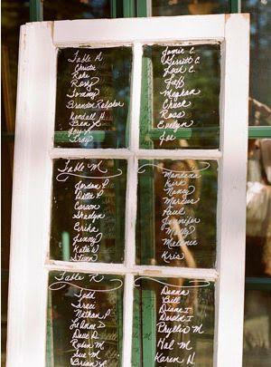 Une vieille porte-fenêtre servira à mettre les placements de table