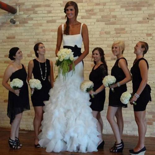 la plus grande mariee que vous ayez jamais vu