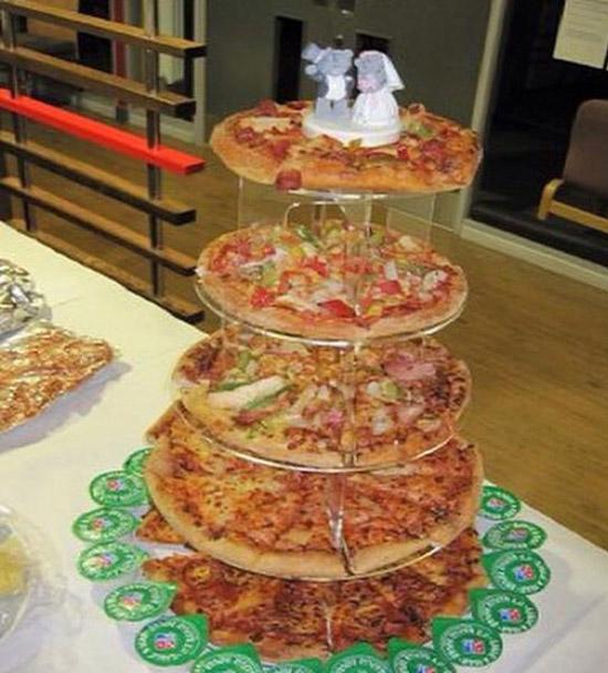 le gateau de mariage pizza