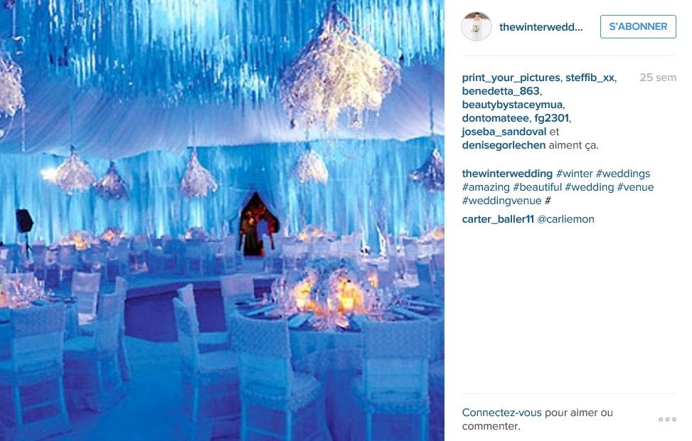 ... canons pour un mariage dhiver vues sur Instagram - Mariage.com