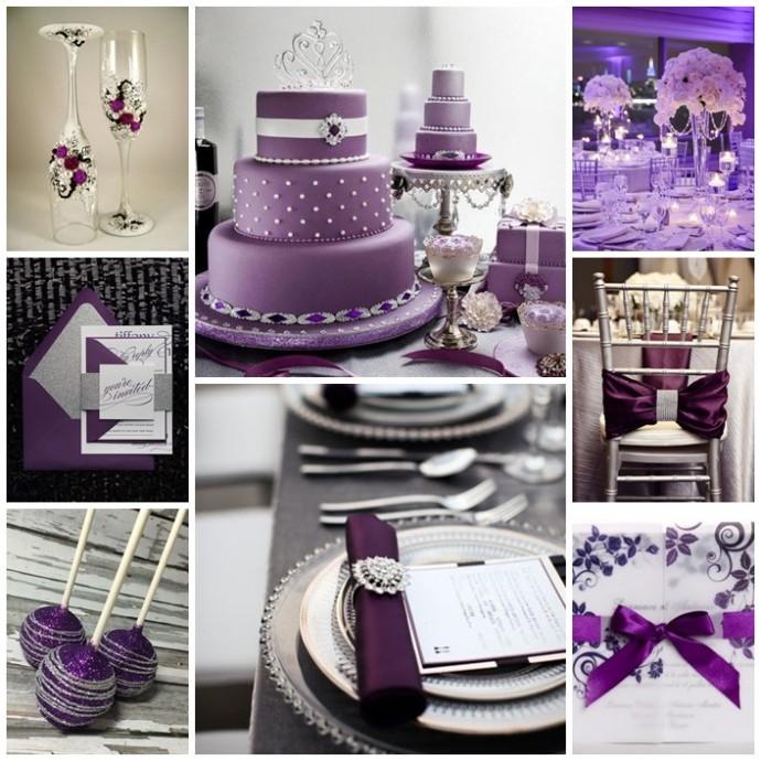 monmariage argente et violet