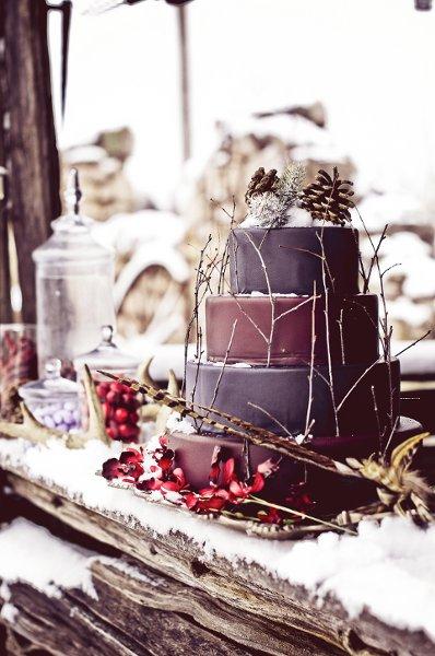 wedding cake de lhiver