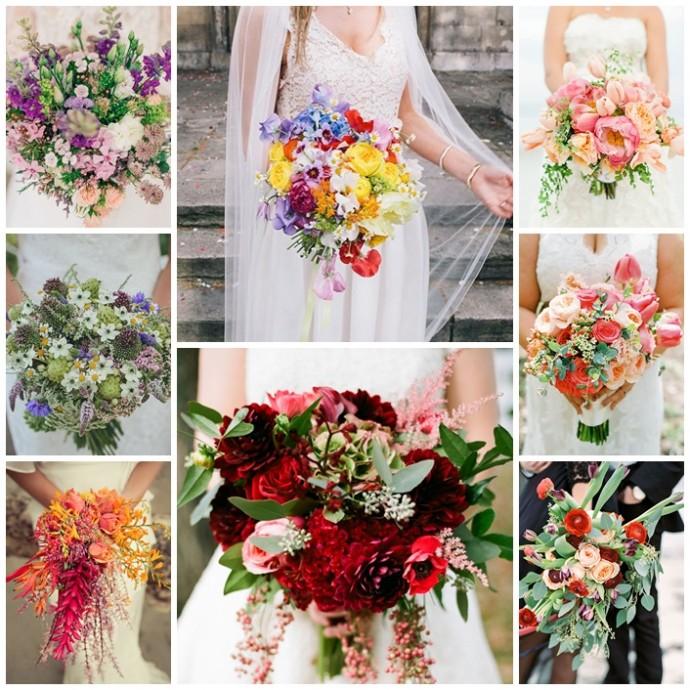 bouquets de la mariee